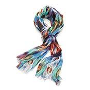 ikat print scarf