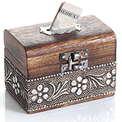 Floral Accent Coin Box