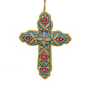 Zari Cross Ornament