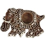 Elephant Wood Block Tea Light Holder
