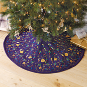 Embroidered Holiday Tree Skirt