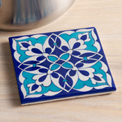 Abstract Blue Trivet