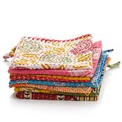 set of 3 kantha dishcloths