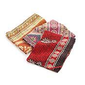set of 3 kantha dish towels