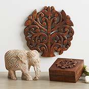 triple carved elephant