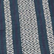 blue chevron stripe flat weave rug alt