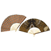 Elegant Indonesian Fans - Brown/Natural