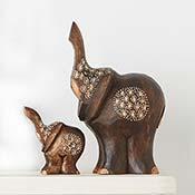Parent & Child Elephant Figures