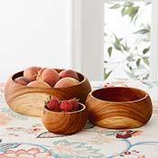 Albizia Nesting Bowls