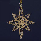 Golden Star Filigree Ornament