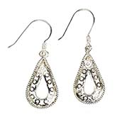 Open Teardrop Earrings