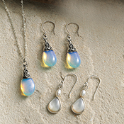 java moon pendant necklace