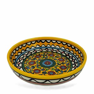 Large Yellow Floral Bowl