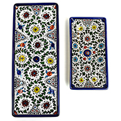 West Bank Set of 2 Rectangular Trays