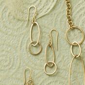 oval loops brass earrings2