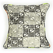 African Motif Block Pillow