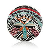 Kenyan Soapstone Mask Trivet