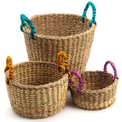 Bright-Handle Baskets