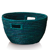 large teal basket