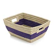 Purple Singular Stripe Rectangle Basket
