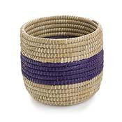 Purple Singular Stripe Round Basket