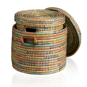 Set of 2 Round Rainbow Baskets