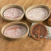 Spring Meadow Bread Warmer & Basket