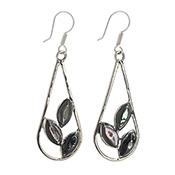 Abalone Leaf Earrings