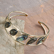 Lustrous Abalone Cuff