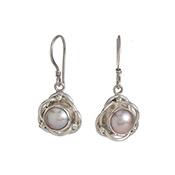 Pearly Petal Earrings