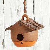 Low Nepali Birdhouse - Orange Base