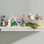 felted bunny family