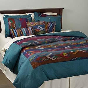 wide stripe dhaka pillow