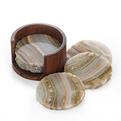 Rough-Edge Onyx Coasters
