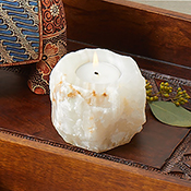 Double-Sided Onyx Candleholder