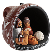 Tea Cup Nativity Ornament