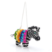 Safari Zebra Ornament