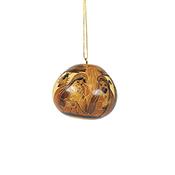 Nativity Gourd Ornament