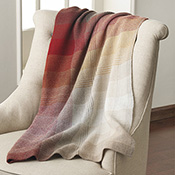 Fall Tartan Alpaca Throw