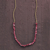 Garnet Soapstone Necklace