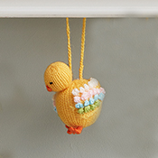 Highland Spring Chick Ornament