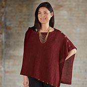 garnet heather alpaca poncho