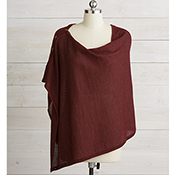 garnet heather alpaca poncho alt