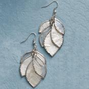 shimmering leaves earrings