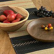 acacia low bowl