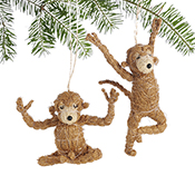 Yoga Monkey Ornaments