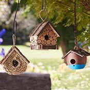 basket bird house