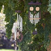 kawayan owl wind chime