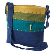 Spring Stripes Hemp Bag