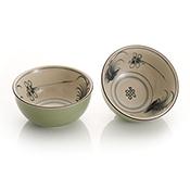 dragonfly dipping bowls set